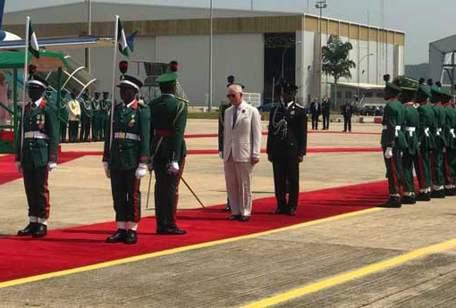 Photos: Prince Charles, Duchess Of Cornwall Arrive In Nigeria