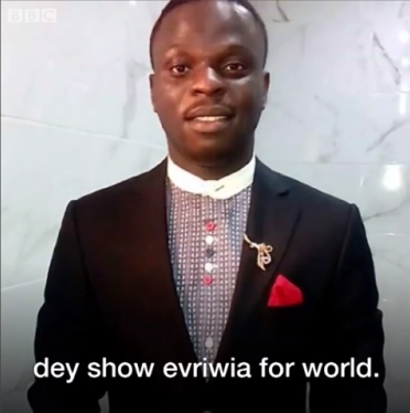Lady who featured in leaked sex tape with popular Lekki pastor Omatsola breaks down in tears in BBC interview (video)