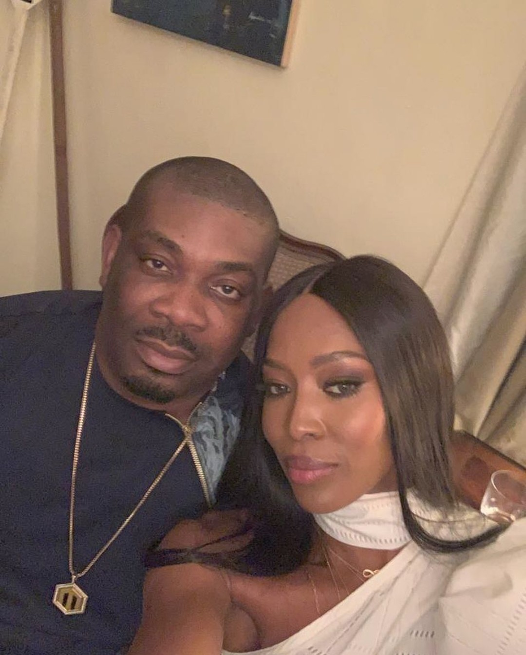 "Don Jazzy shares a photo with Naomi Campbell says ""I was star struck"""