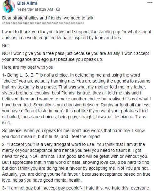 """Dear straight allies... here"