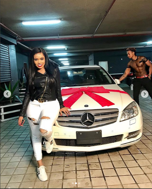 Vera Sidika spites ex-boyfriend Otile Brown who begged her for a Mercedes by buying same car for her new