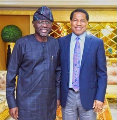 2019: Babajide Sanwo-Olu meets Pastor Chris Oyakhilome (Photo)
