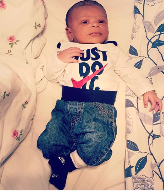 May D shares adorable new photos of his newborn son, Ethan