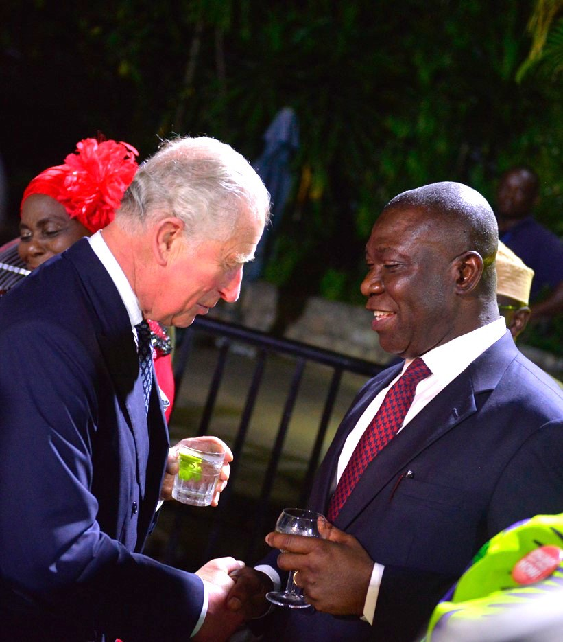 Photos of DSP Ekweremadu and Prince Charles in Abuja