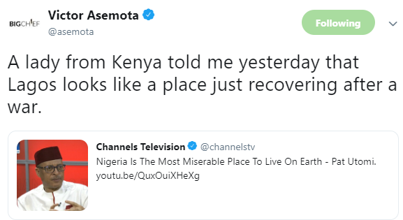 See what a Kenyan lady said about Lagos