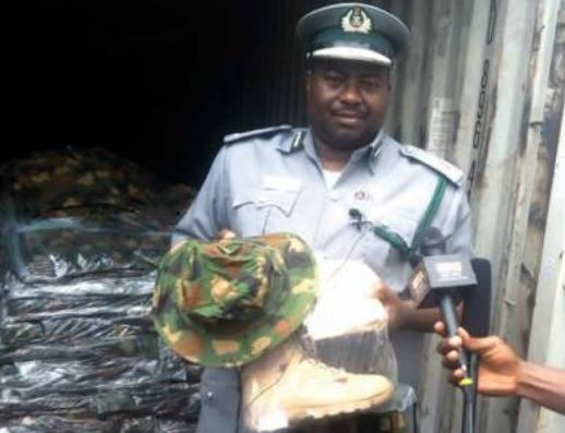 Nigerian customs seizes Military camouflage, machetes and other gadgets worth N543.95m in Port Harcourt