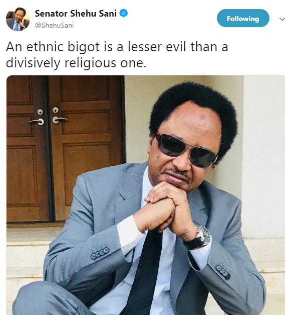 Senator Shehu Sani shades Nasir El-Rufai on Twitter