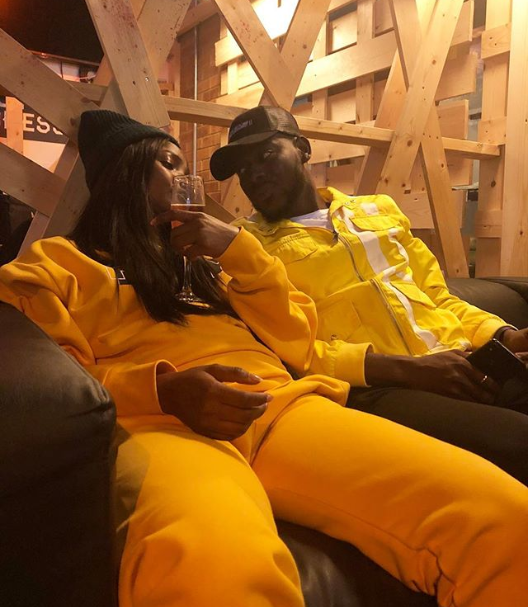 Loved-up photo of Simi and her boo Adekunle Gold in London