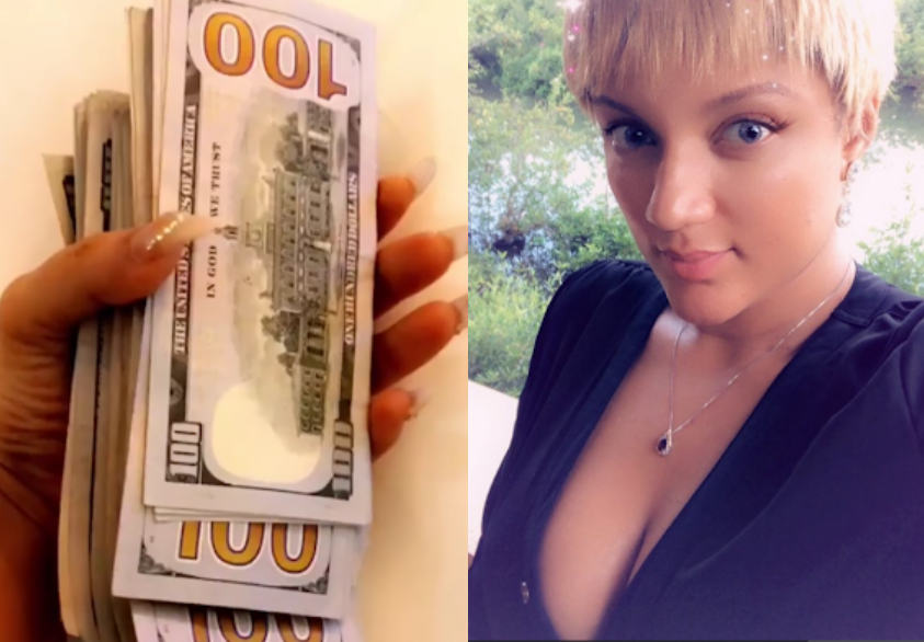Gifty shows off wad of dollars, says counting money is her favorite hobby (video)