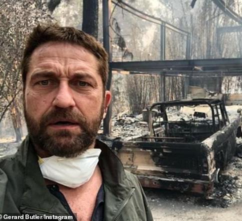 Gerard Butler shares selfie where he