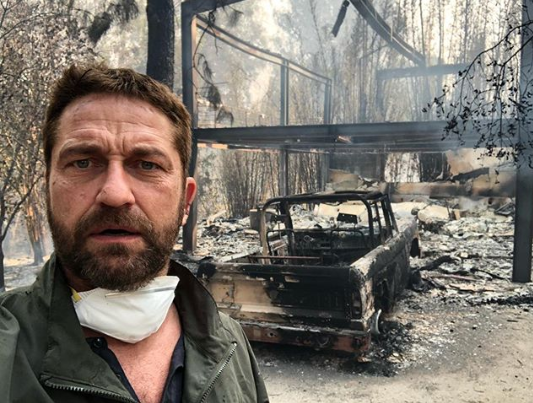 Gerard Butler shares selfie where he