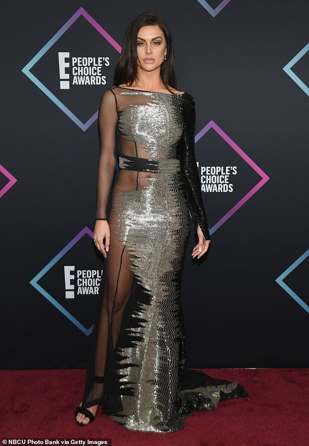 Reality TV star?Lala Kent wears a sheer dress with no underwear to 2018 People