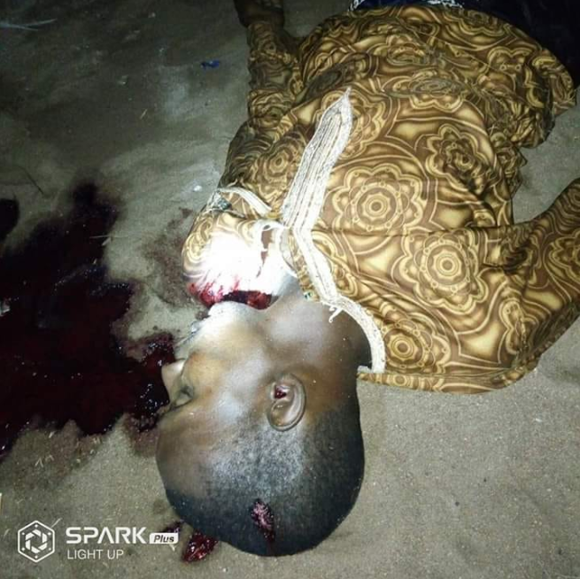 Boy pictured with machete moments before he stabbed his colleague to death in Taraba (graphic photos)