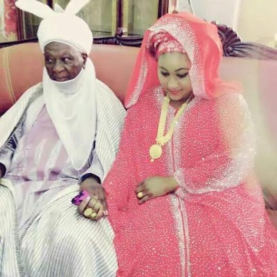 Photos: 86-year-old Emir of Daura welcomes second child with his young wife