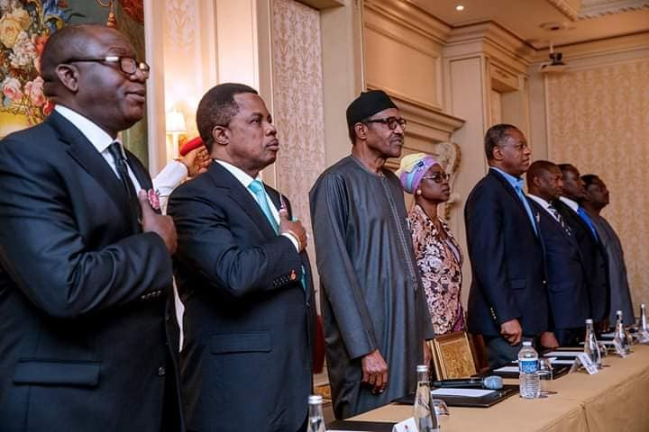 President Buhari meets with the Nigerian Community in France (Photos)