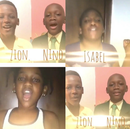 Adorable video of Annie Idibia