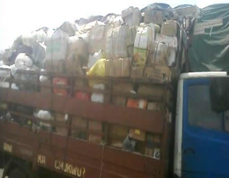 Customs seize truckload of weapons, codeine, Tramadol in Imo (photo)