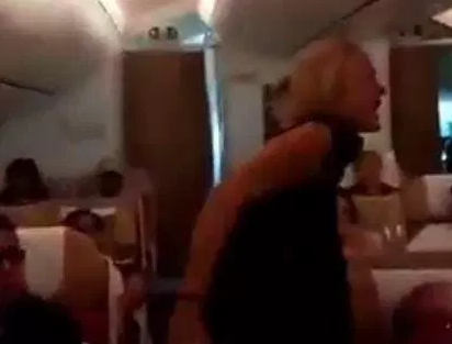 Female lawyer gets drunk during flight and goes on rampage, abusing flight crew after she