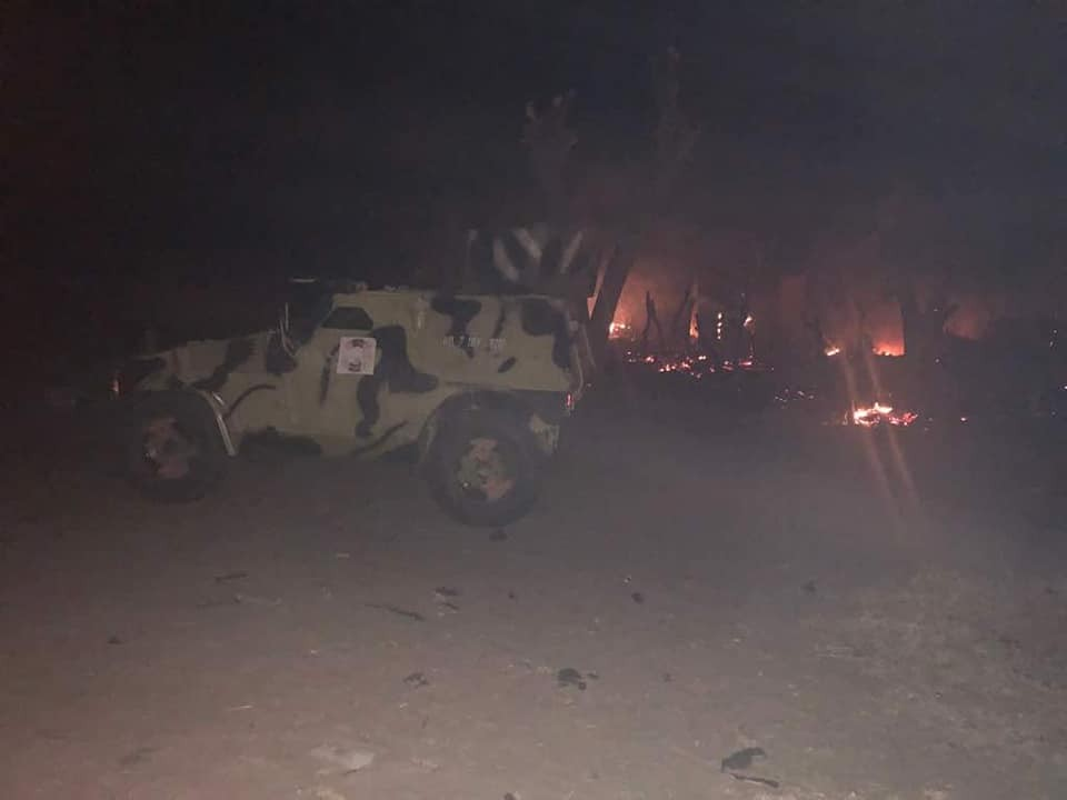 Photos: Boko Haram terrorists set houses on fire in Borno State