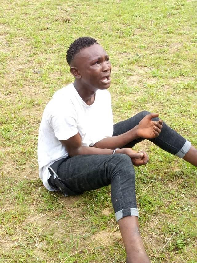 Photos: 18-year-old cultist nabbed in Bayelsa for assaulting and attempting to snatch phone from victim