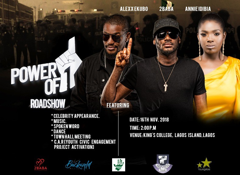 Power of 1 Road Show! 2Baba, Annie Idibia, Alexx Ekubo Take Campaign To King