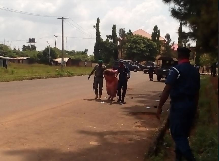 Photos: Pandemonium in Anambra state House of Assembly as police teargas lawmaker, thugs
