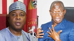Oshiomole threatens to sue Saraki, describes him as a disgrace to democracy