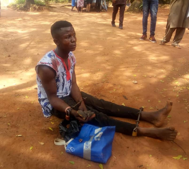 19-year-old man caught with genitals and other human parts in Awka (graphic photos)