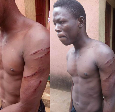 Photos: Woman allegedly orders thugs to beat up her gateman after he asked for his salary