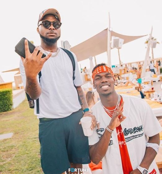 Photos: Davido and Paul Pogba party in Dubai