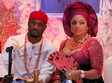 Peter Okoye shades his brother as he celebrates his wife Lola on their 5th wedding anniversary