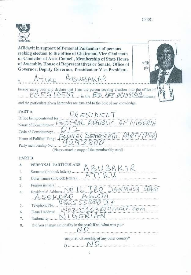 Group petitions FIRS, demand 2015 and 2016 tax recipts of Atiku Abubakar
