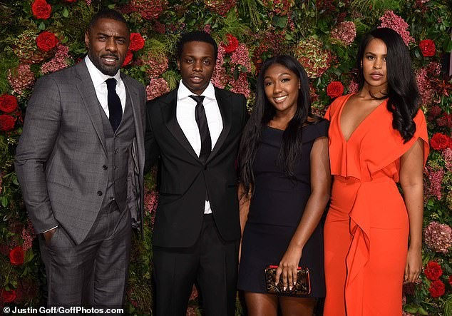 Idris Elba attends the Evening Standard Theatre Awards 2018 with his stunning fianc?e and daughter (Photos)