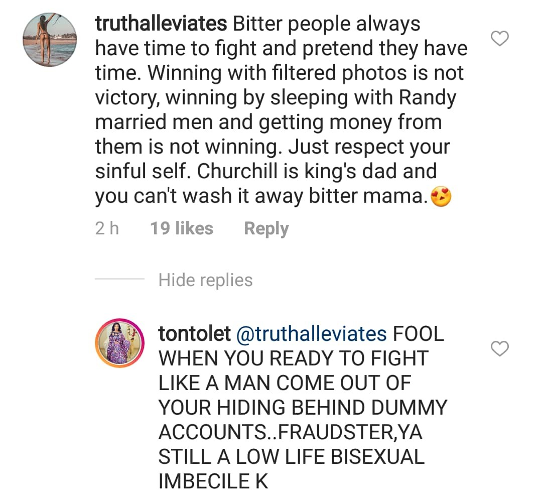 Between Tonto Dikeh and a fake IG account she believes is being run by her ex-husband, Olakunle Churchill