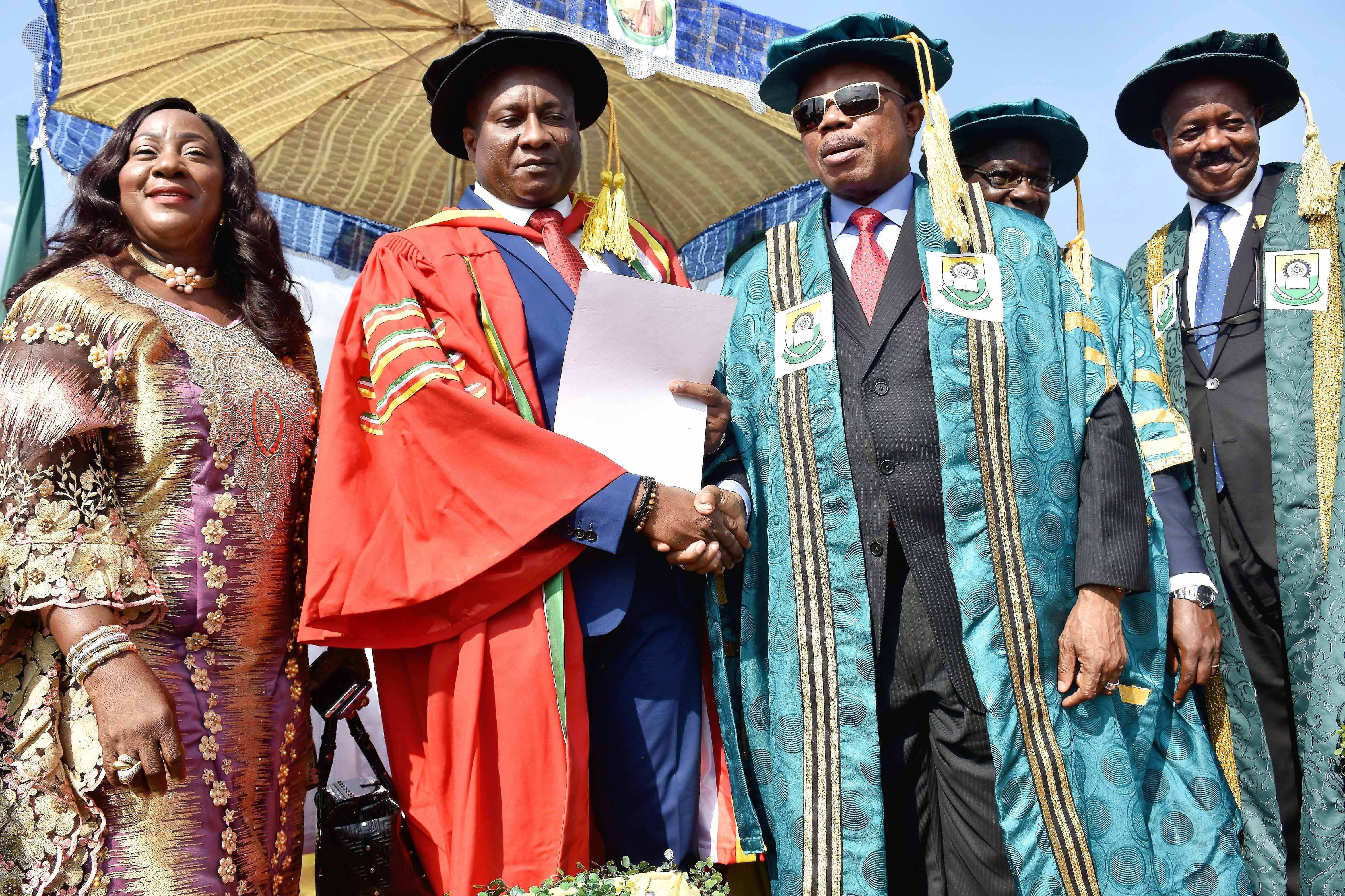 Air Peace boss gets doctorate, wows Anambra varsity with N70m, nonviolence centre