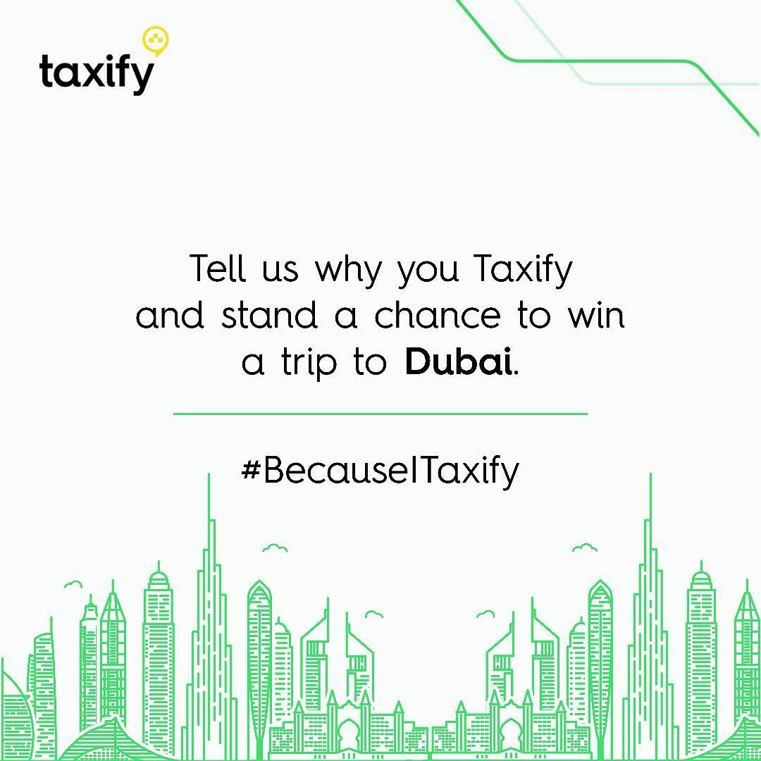 Taxify is taking 2 riders to Dubai!