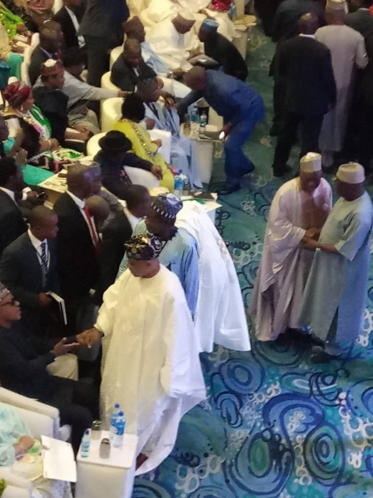 Photos: Obasanjo, Atiku, Gowon, Saraki, Dogara, Abdulsalam attend Jonathan?s book launch in Abuja