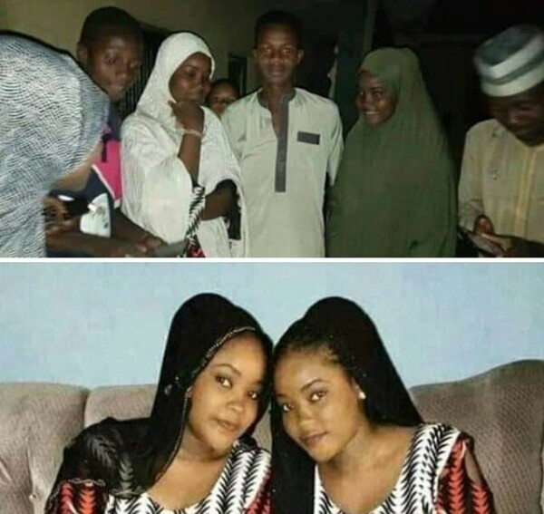 Photos of kidnapped Zamfara twin sisters after regaining freedom