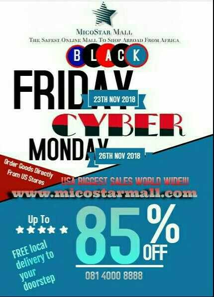 MicoStar Mall gives Nigeria direct access to US biggest sales - Black Friday Nov.23