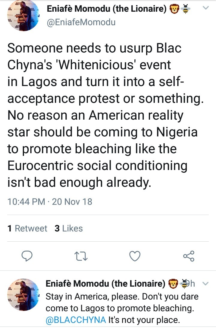See how Nigerians are reacting to news that Blac Chyna is coming to Lagos to sell bleaching cream for $250 per jar
