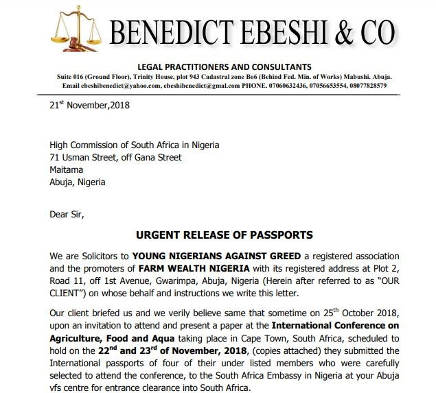 Angry Nigerian Pastor calls out South African embassy for withholding his passport despite paying VIP fee (Video)