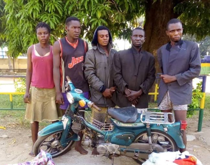 Notorious robbery gang with a female member apprehended in Benue (photos)