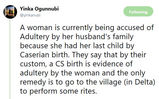 Twitter stories: Nigerian woman