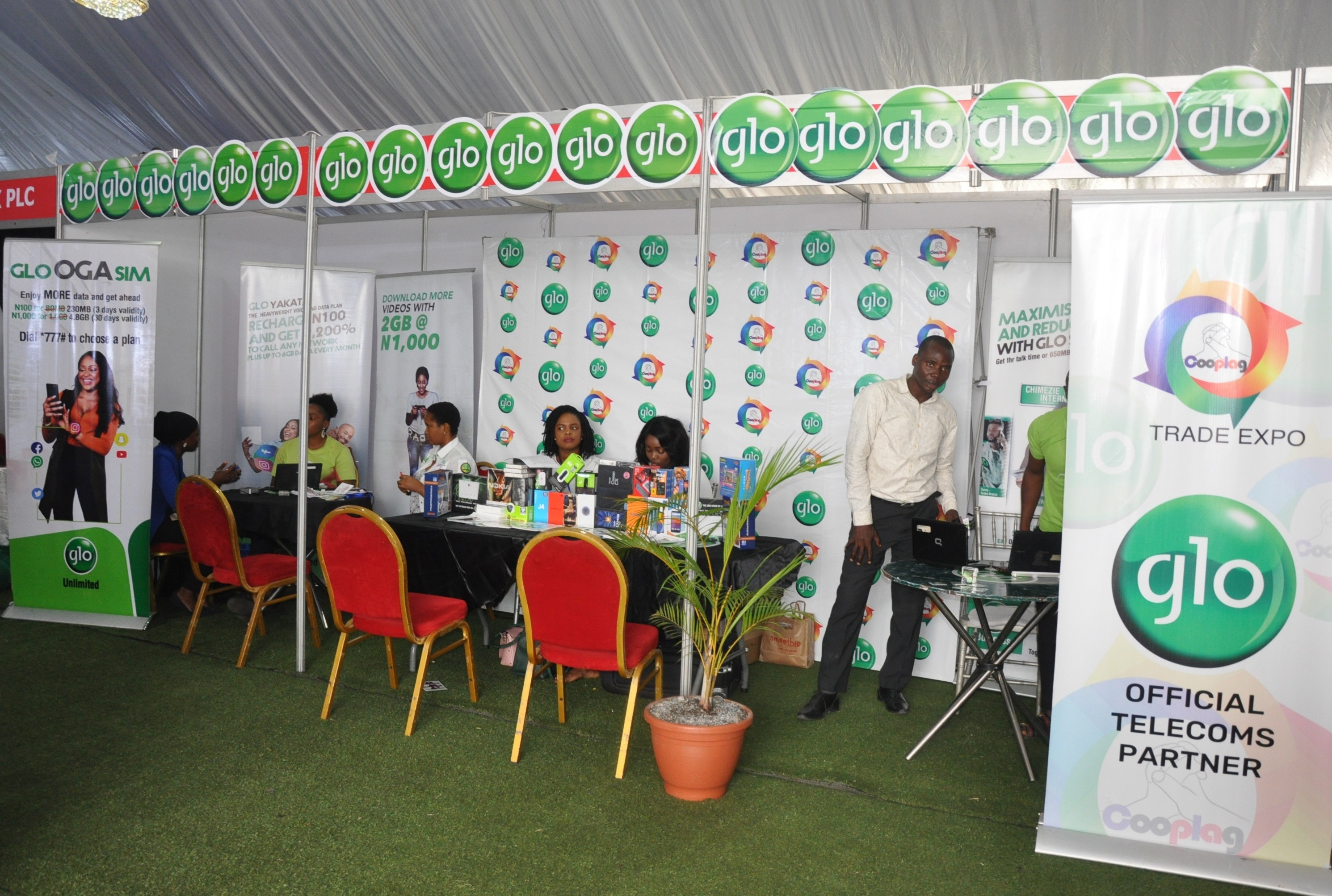 Glo excites visitors at Shell Trade Expo