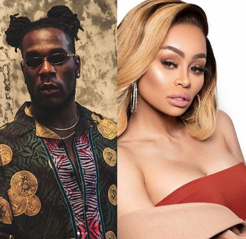 """""""The thunder that will fire you..."""" Burna Boy warns Blac Chyna following reports she"""