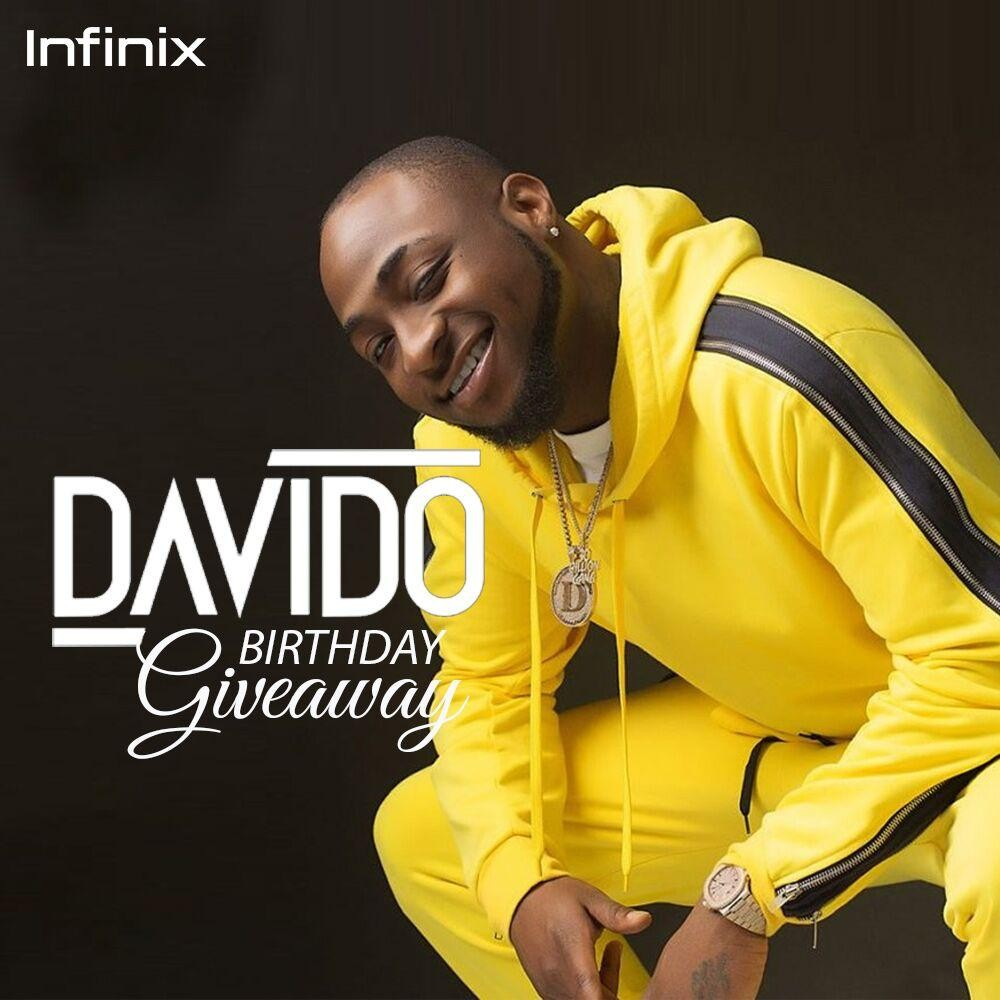 OBO Infinix Birthday Giveaway: Davido is turning 26 and is giving away 26 Infinix smartphones to 26 lucky winners