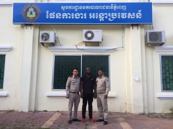 Photos: Nigerian man arrested in Cambodia for overstaying visa