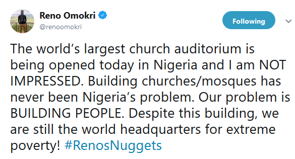 Reno Omokri reacts as World