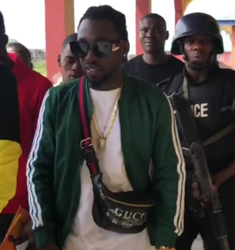Video: Children in Delta state who thought singer Orezi is a politician beg him for money so they can vote for him in 2019