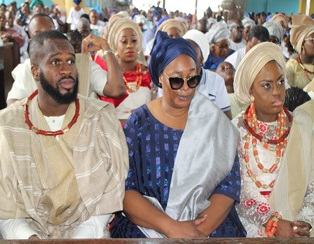 Photos from the funeral of Chief Ope Bademosi who was murdered by his cook